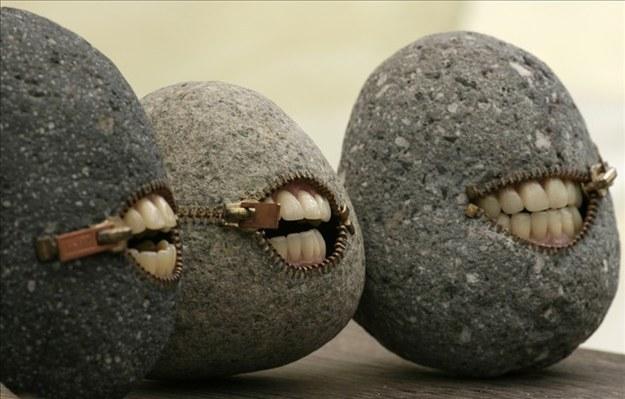 rocas con labios
