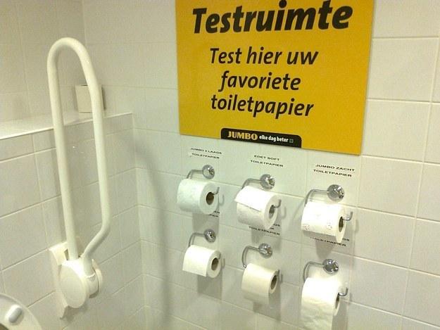 muestrario de papel higiénico