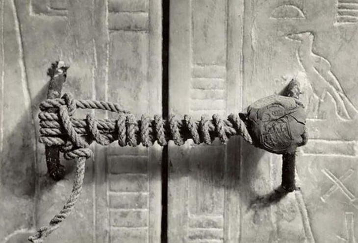 sello intacto de la tumba de tutankamon