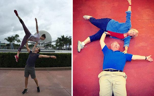 padres imitan foto de hija con su novio