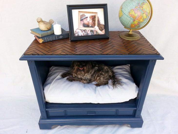 mueble viejo como cama para perros