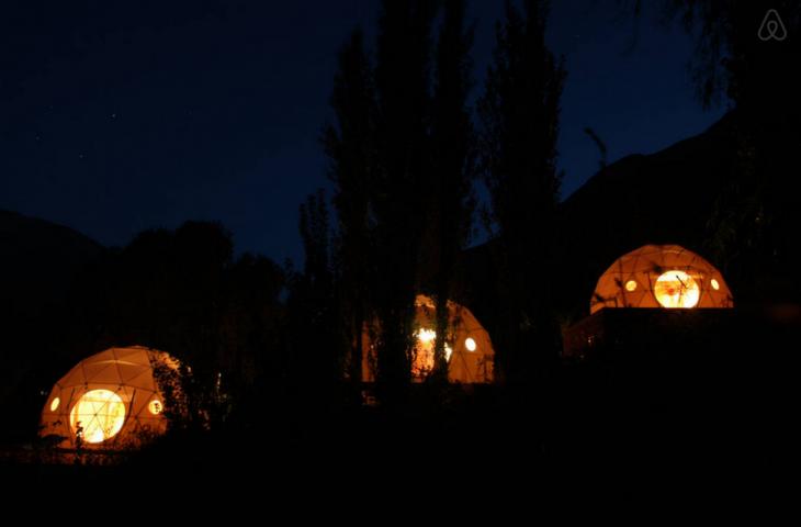 habitaciones circulares para ver las estrellas