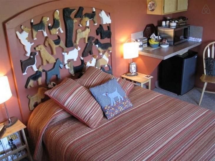 habitacion de hotel con forma de perro