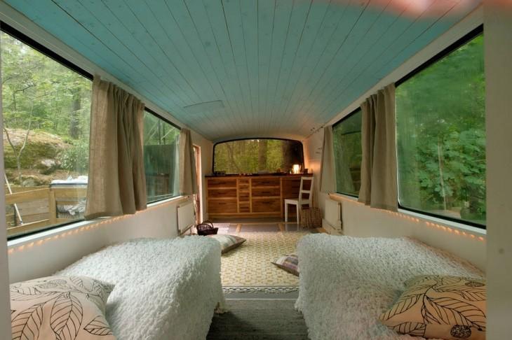 habitación en un antiguo bus