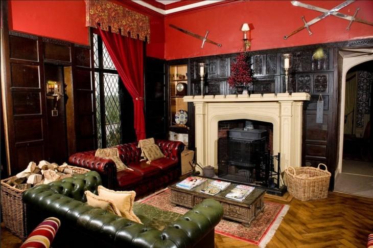 Sala con gran chimenea