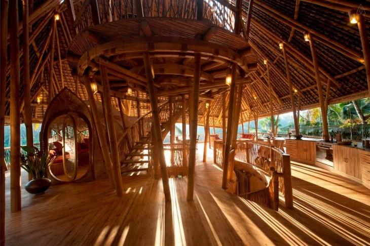 Casa de bamboo en bali