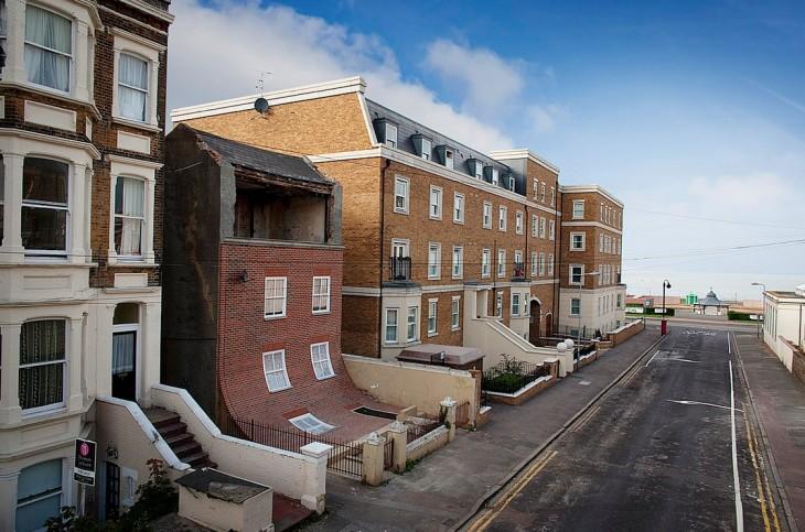 Margate, Kent, REino Unido edificio que se desliza