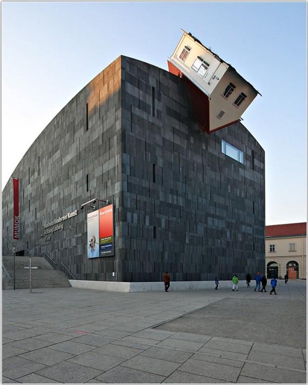 Vienna, Austria, casa arriba de un edificio