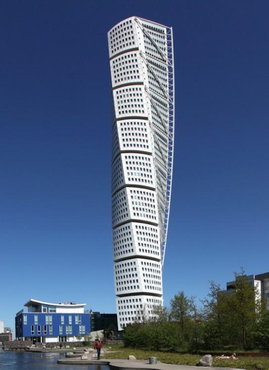 Malmo, suecia edificio que se retuerce