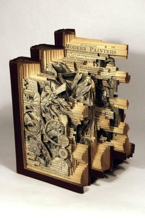 libro hecho arte con forma dimensionales