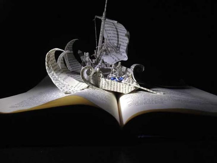 libro hecho arte barco vikingo