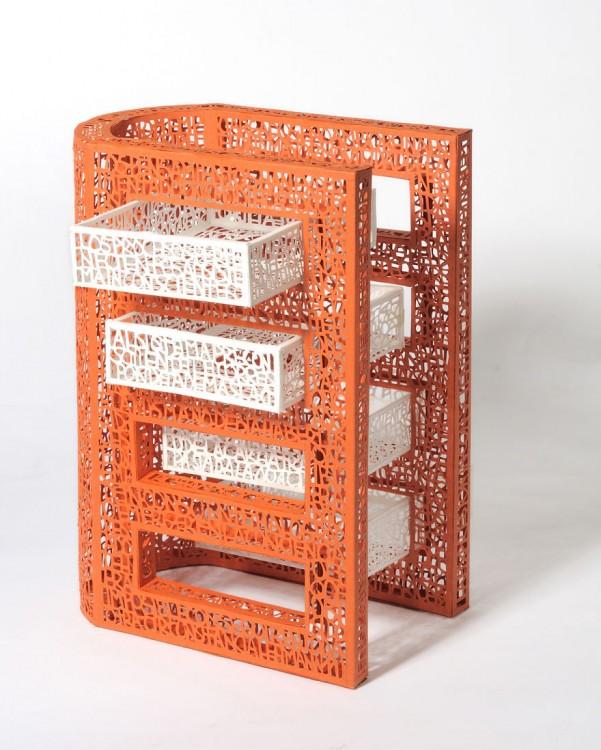 libro hecho arte como forma de estructura de edificio