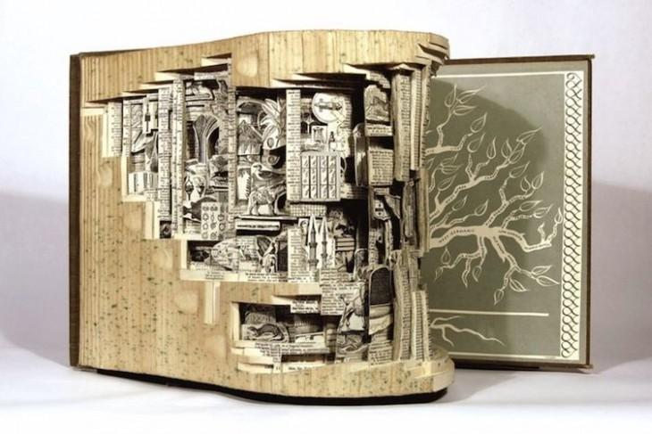 libro hecho arte en recortes