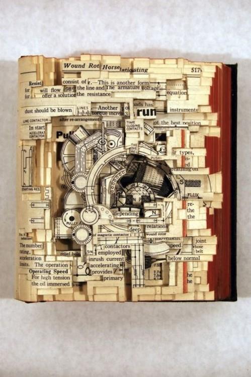 libro hecho arte con recortes