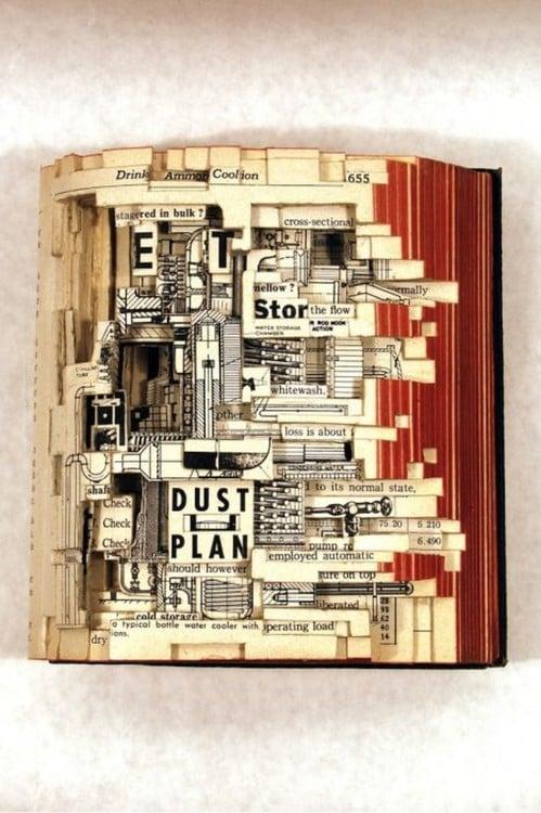 libro hecho arte con recosrtes