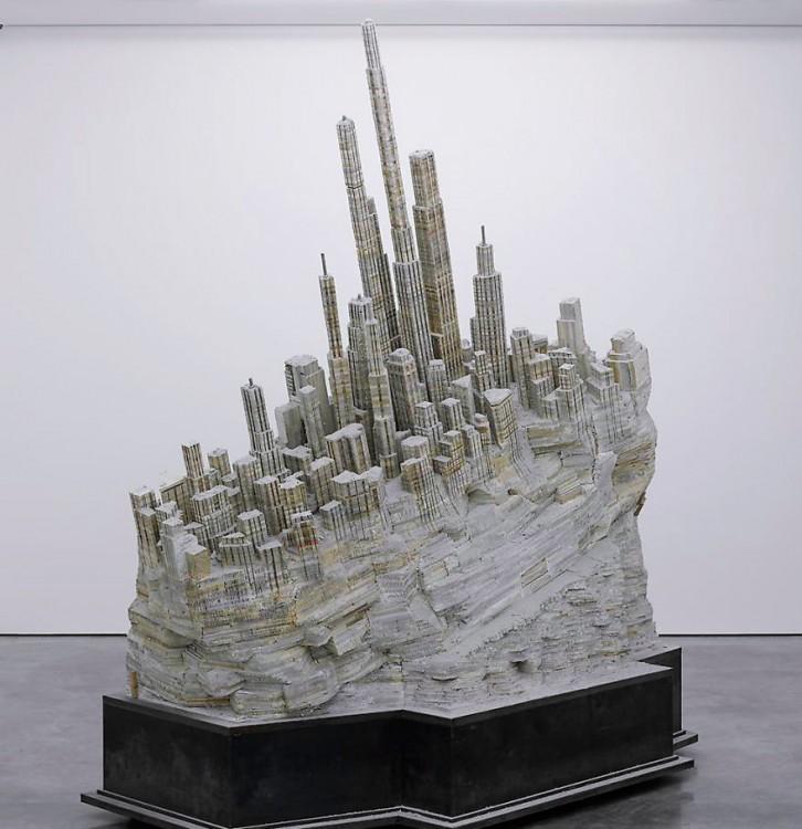 libro hecho arte forma de ciudad