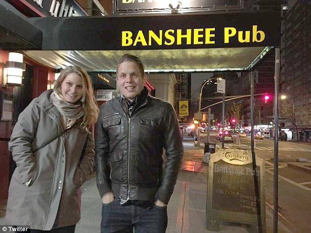 Jordan Axani y Elizabeth Gallagher en Nueva York