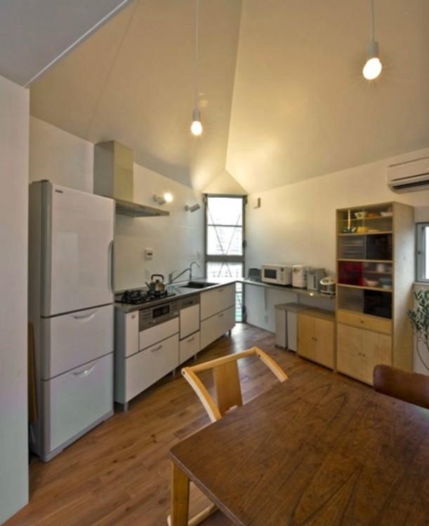 Cocina en la casa triangular