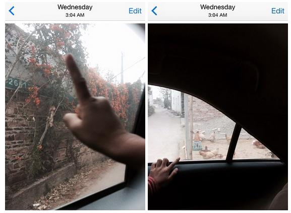 Fotografía de las manos de un niño tomada por el celular de Matt Stopera