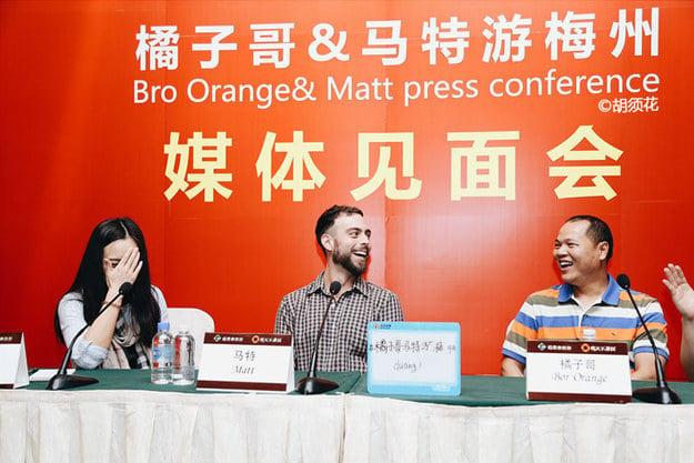 Rueda de prensa de Matt Stopera y el hermano naranja
