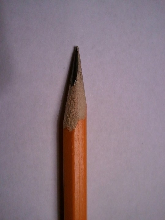 Parte de un lápiz sin punta