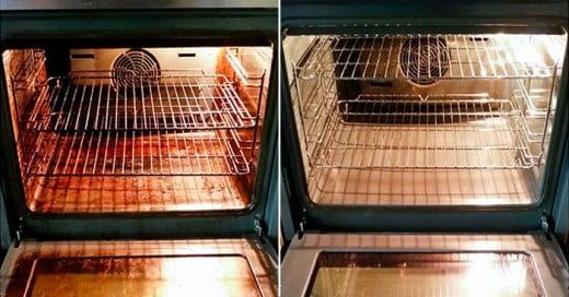 Un Horno antes y después de su uso