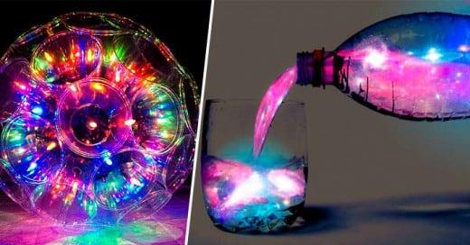 Luz en tus fiestas e impresionantes efectos con material simple