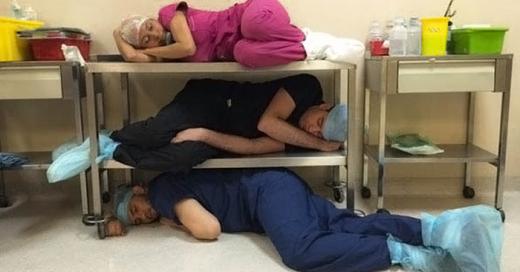 También se duerme en el hospital