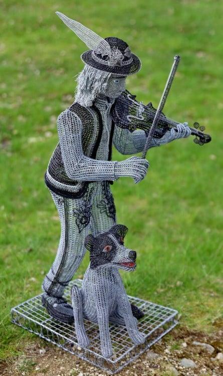 Escultura de alambre Goral Eslovaquia