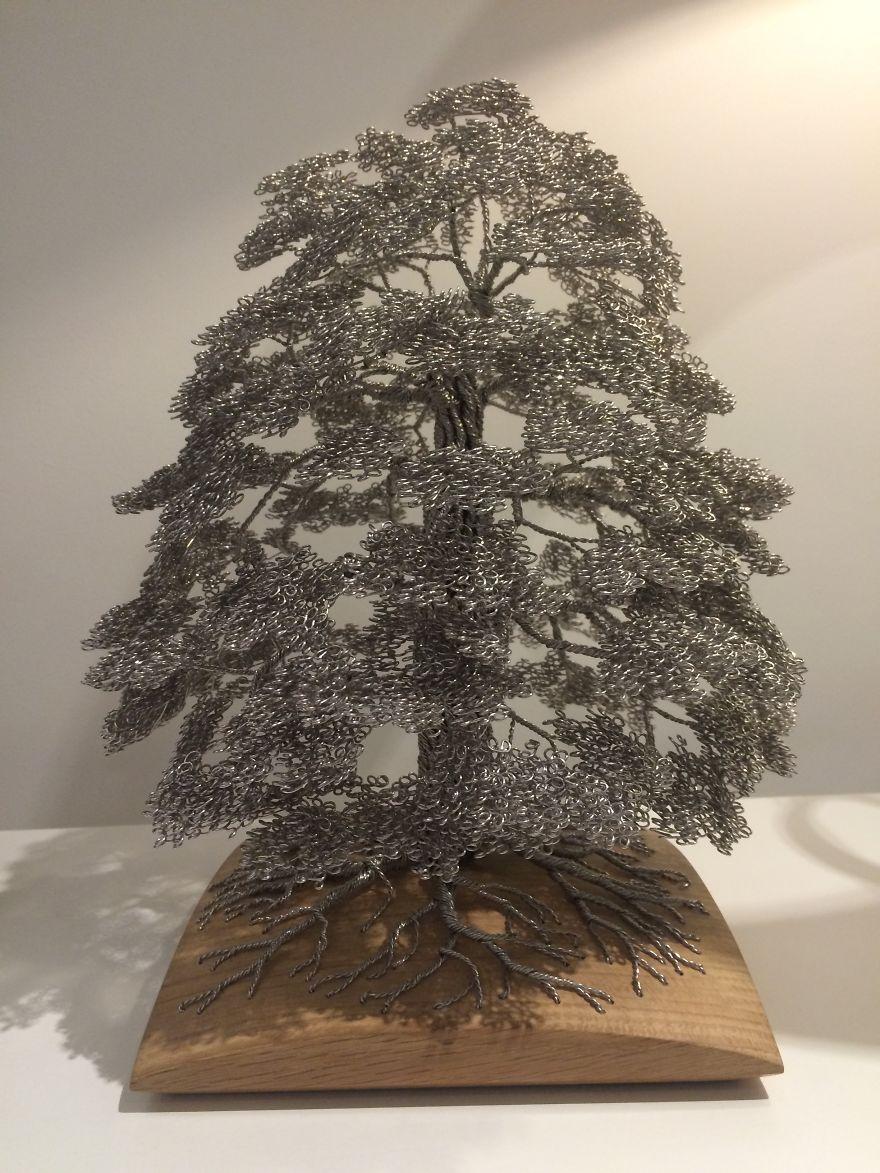 30 bellas esculturas hechas de alambre torcido