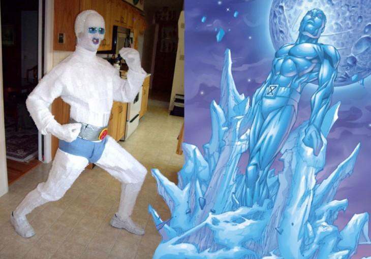 Chico disfrazado de Ice Man