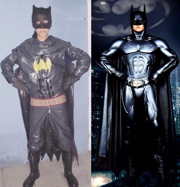 Chico disfrazado de Batman