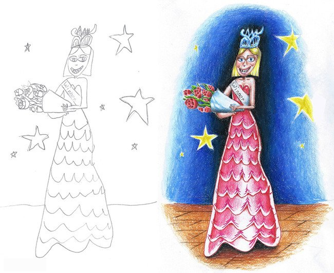 dibujo de una princesa