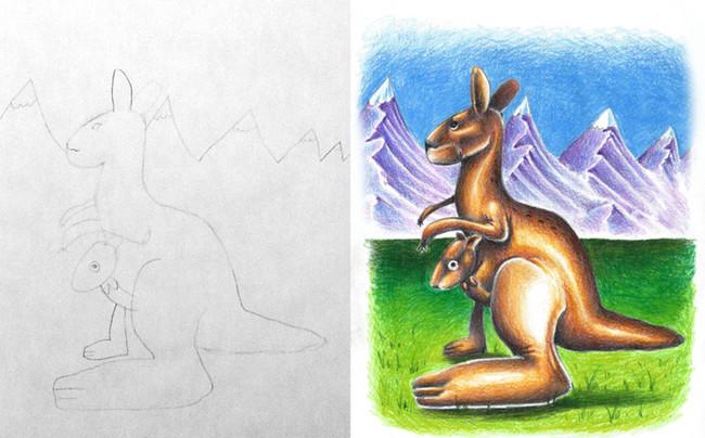 dibujo de canguro