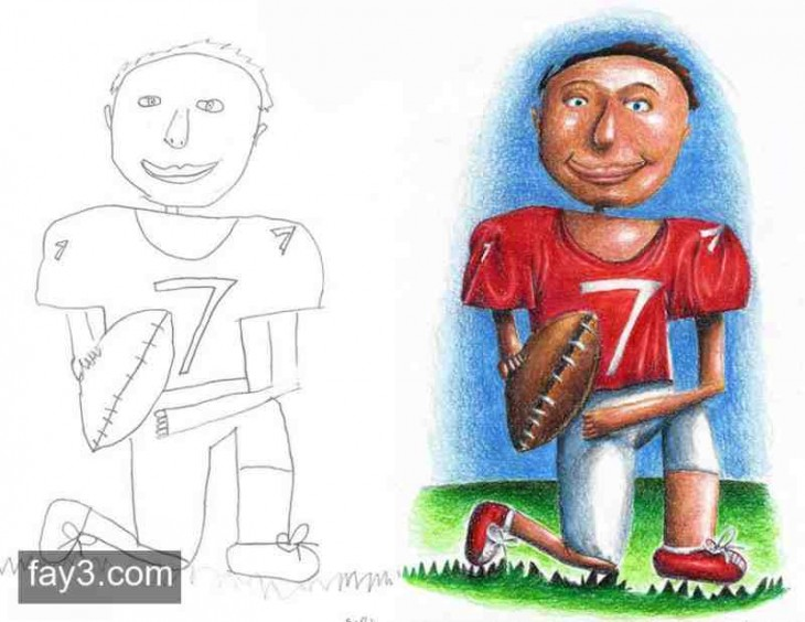 dibujo de jugador de football