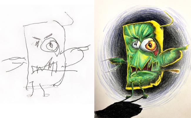 Fred Giovannitti  dibujos de los hijos