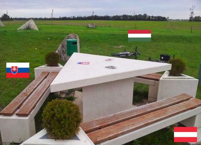 Triple frontera Eslovaquia, Austria, hungria