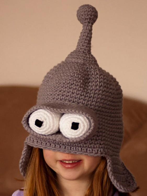 Gorro para invierno con la forma de Bender personaje de futurama