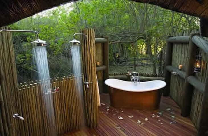 Baño al aire libre