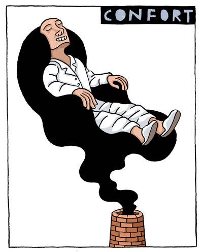 Dibujo de un hombre simulando que esta en su zona de confort