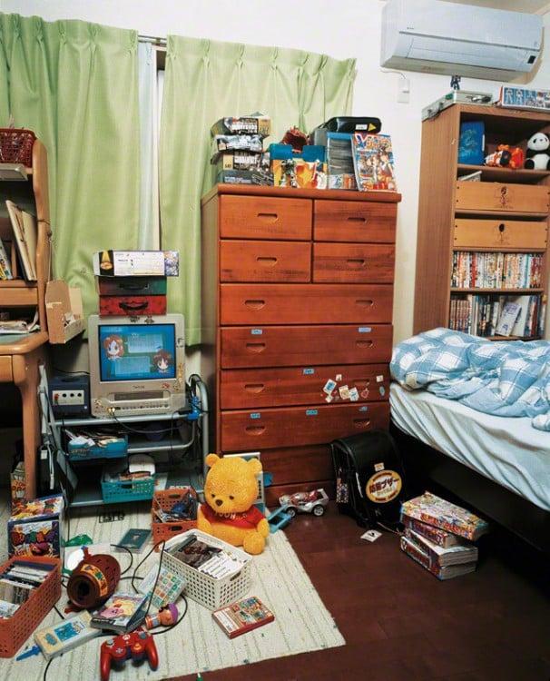 Habitación de Ryuta fotografiado por james