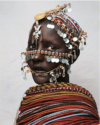 Nantio niña de Kenia fotografía por James