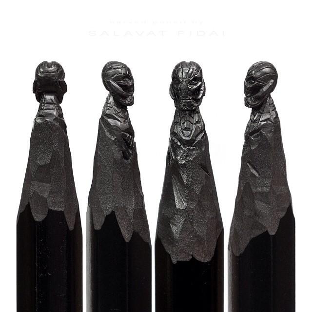 Puntas de lápices con la cabeza de Ultron