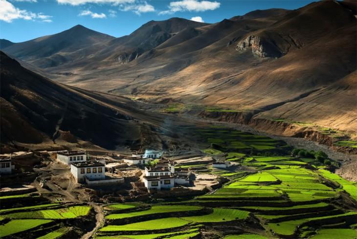 Pueblito en el Himalaya, Tibet