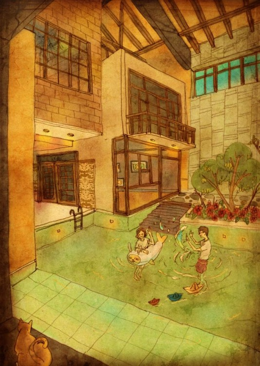 Ilustración de puuung en las pequeñas cosas en el amor