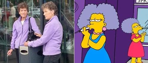 Dos mujeres parecidas a Patty y selma de los simpsons