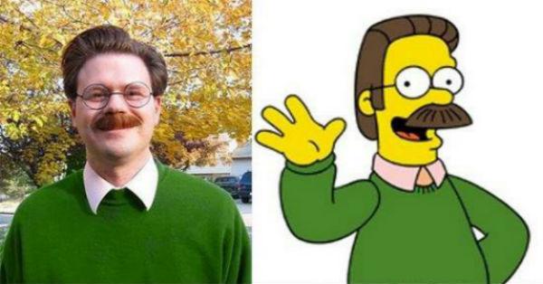 """Hombre se parece a Ned Flanders """"Los Simpsons"""""""
