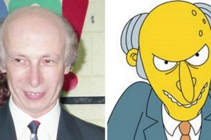 Hombre parecido al personaje del sr. Burns de los Simpsons