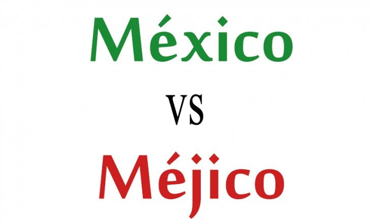 Comparación de la palabra México vs Méjico