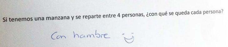 Respuesta graciosa a una pregunta en un examen de matemáticas